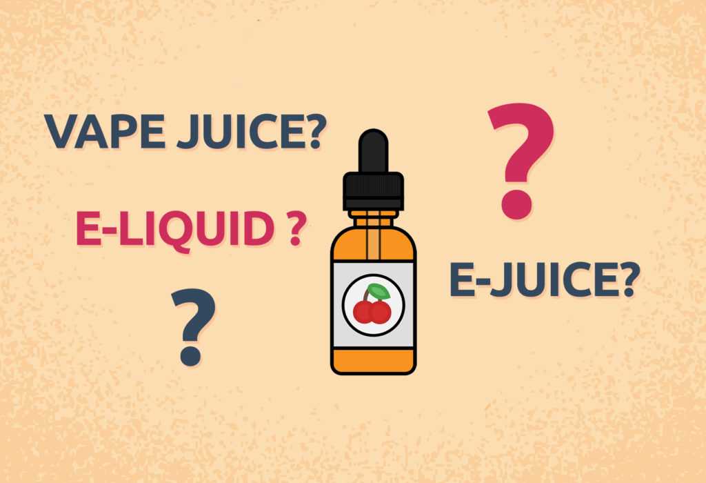 What is the difference between E-Liquid, Vape Juice or E-Juice?